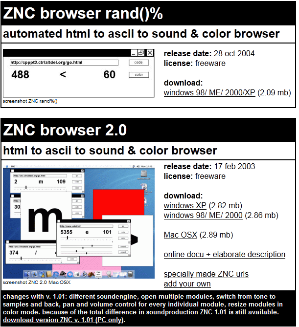 znc browser peter luining soundengine colors art sound